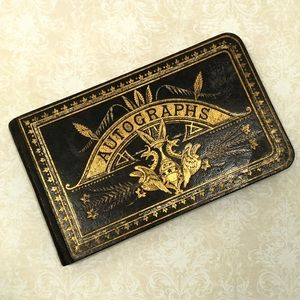 Autograph Book - 1878 - Leather Bound